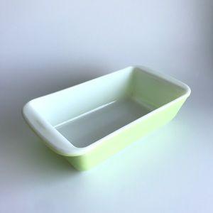 Vintage Pyrex Lime Green Short Loaf Dish 212